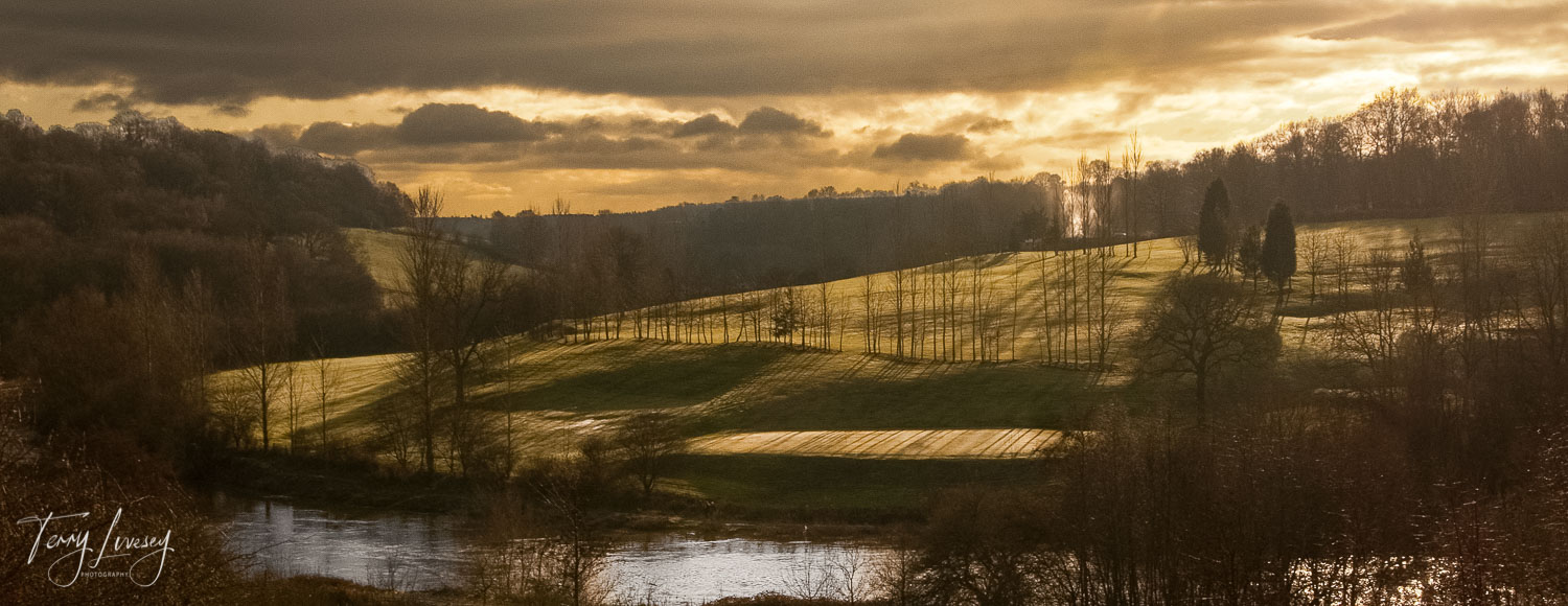 The 'Golden Hour' at sunset, taken at the Severn Valley Country Park, Alveley.