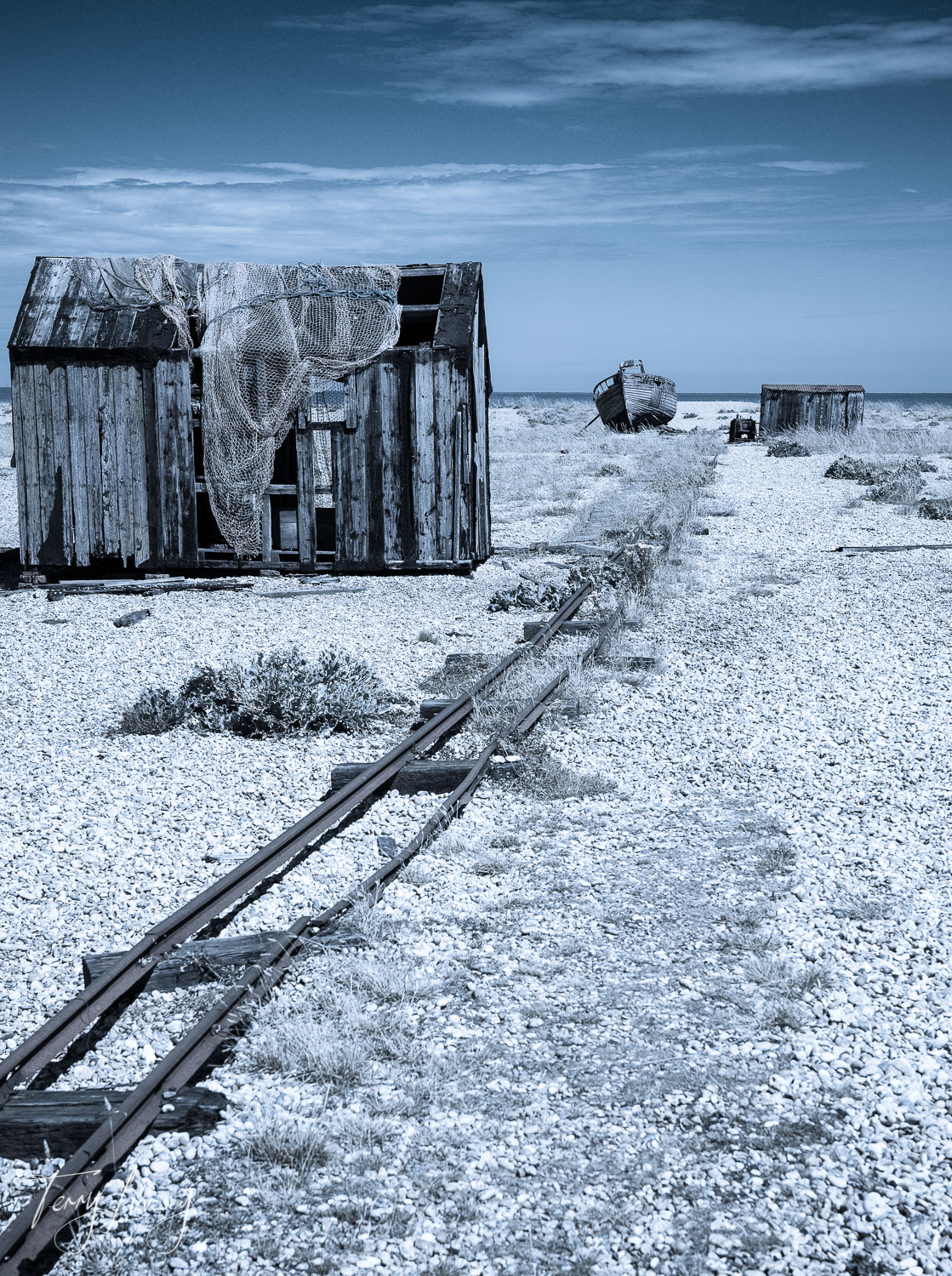 An old, disused track once used for transporting the day's catch, from the boats to the road.